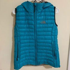 Blue north face vest jacket